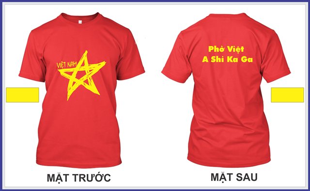 Mẫu áo nhóm cờ đỏ sao vàng lập team đi du lịch cực chất
