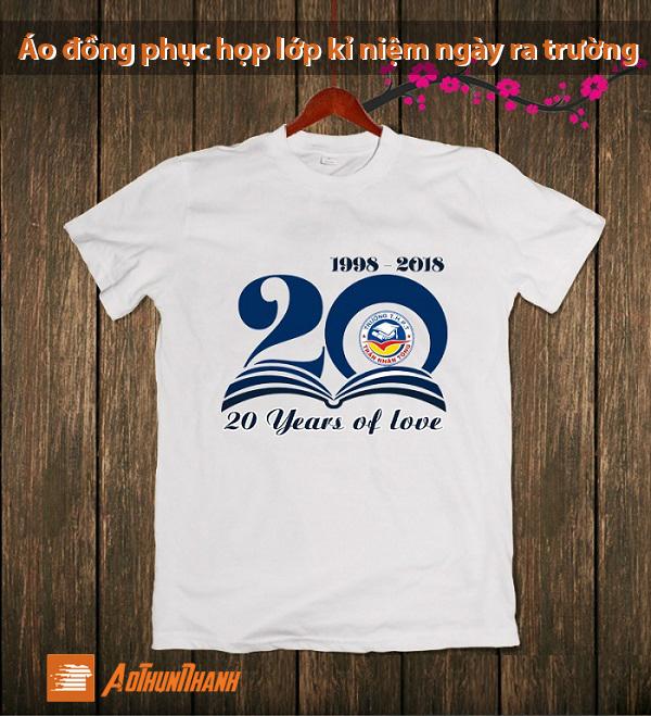 Tổng hợp logo áo kỷ niệm 20 năm ra trường cực đẹp, cực ấn tượng