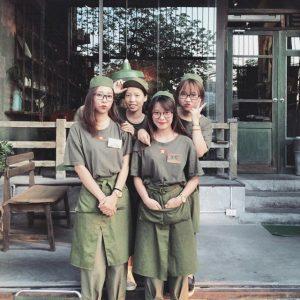 đồng phục tạp dề quán café