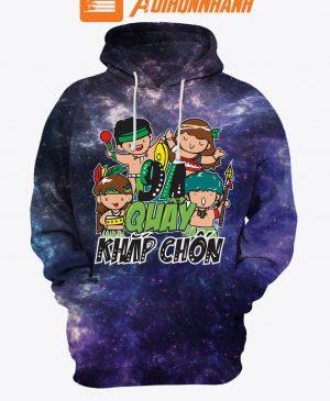 Áo hoodie 3D Galaxy – ATN029