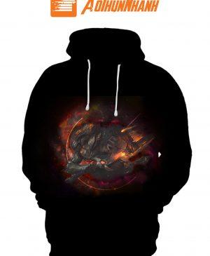Áo Hoodie 3D Galaxy – Liên minh huyền thoại YASUO 1