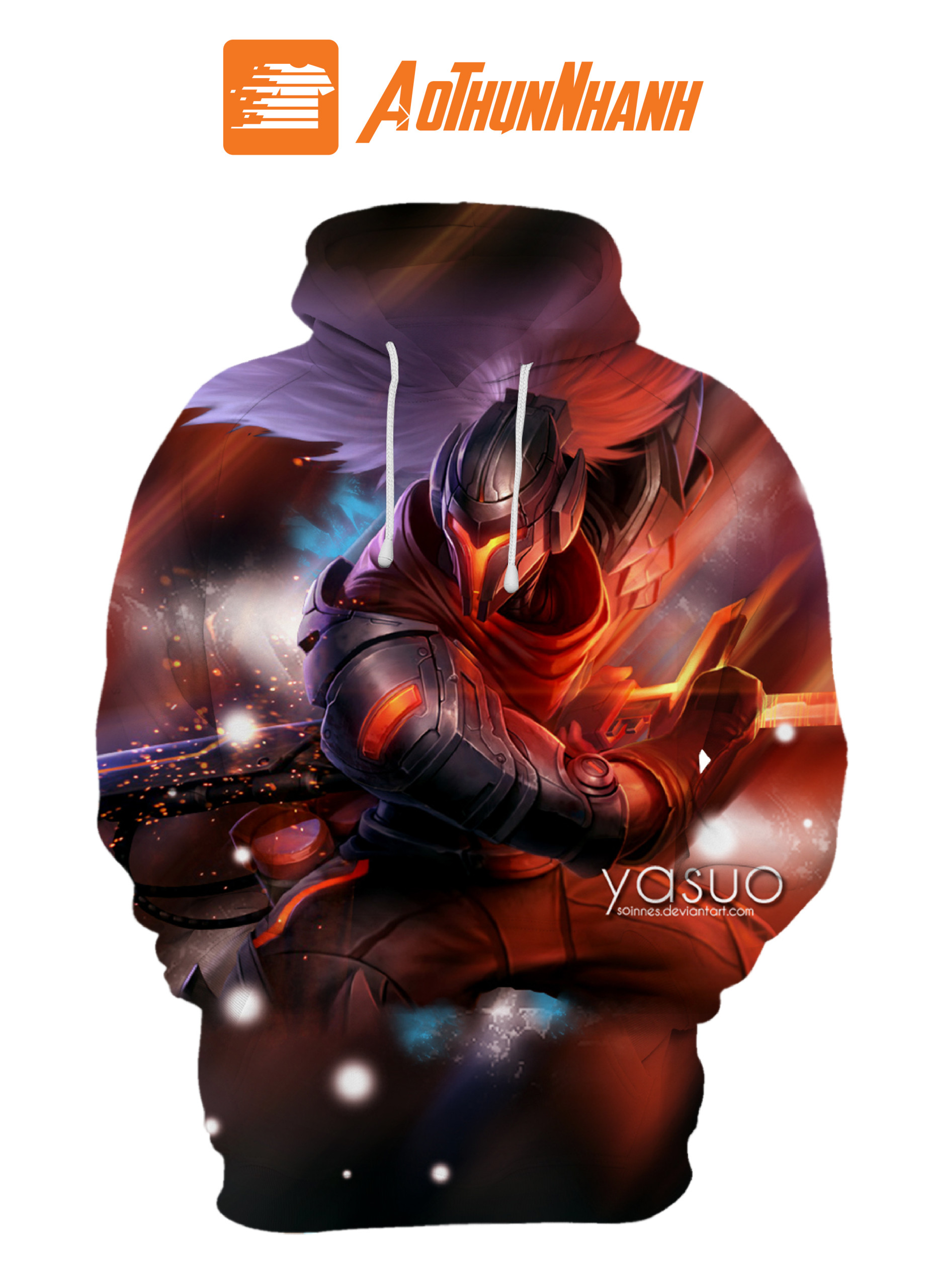 Áo Hoodie 3D Galaxy – Liên minh huyền thoại YASUO siêu phẩm